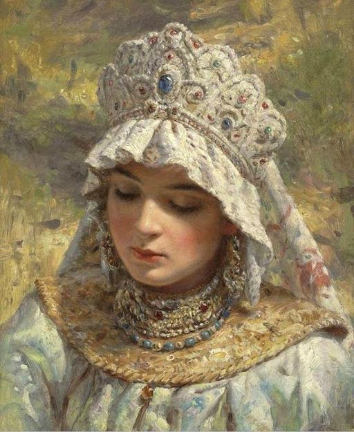 Konstantin_Egorovič_Makovskij_-_Russian_Beauty_Wearing_a_Kokoshnik